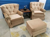 Brown swivel chairs & Ottoman Mississauga, L5A 1Y5