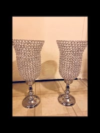 """Set of 2 large 27"""" tall crystal candle holder centerpiece new click on my profile picture for more listings inbox me pick up in Gaithersburg Maryland 20877 all sales final Gaithersburg, 20877"""