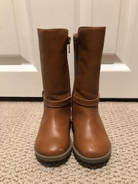 Toddler Girls Tall Faux Leather Boots - Size 6 Pickering, L1V 2Y5