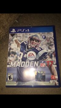 Madden NFL 17 PS4 game case Capitol Heights, 20743
