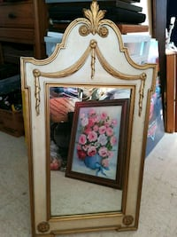 brown wooden framed wall mirror St. Catharines, L2S 0A9
