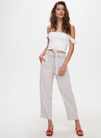 Wilfred Tie-Front Pant Cropped