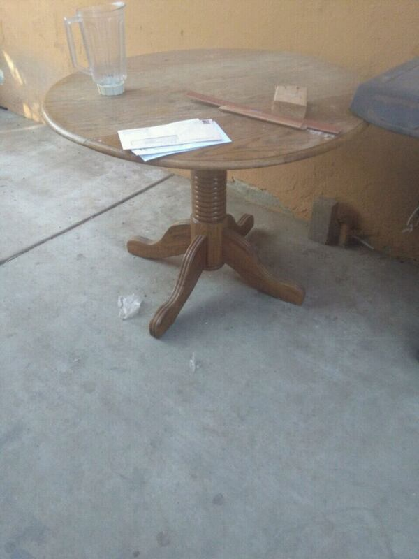 Used Small Oak Table Sides Fold Down