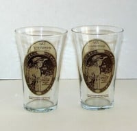 Lot of 2 Mother's Pizza Coca Cola Promo Glasses Vintage Collectibles  Mississauga, L4X 1S2