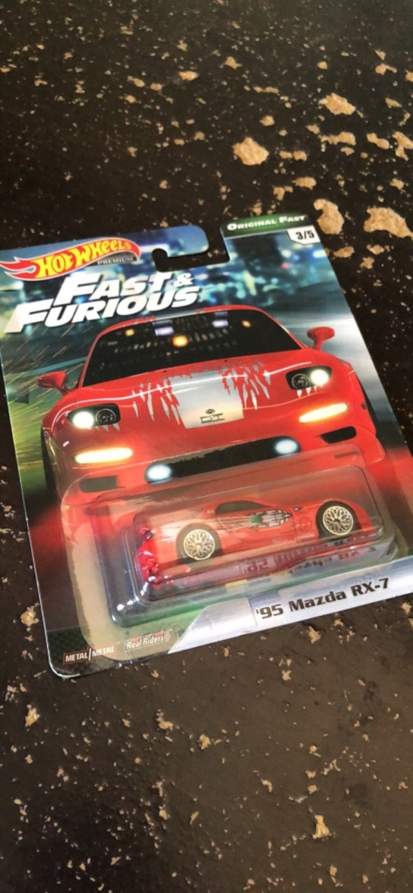 The Fast and The Furious Mazda RX7 Hotwheel