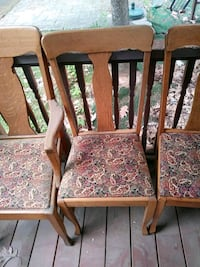 5 ANTIQUE OAK KITCHEN CHAIRS Manchester, 03109