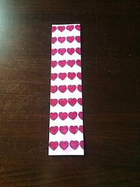 Heart patterned bookmark