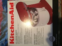 Ice cream maker attachment brand new never been out of the box list price is $79.99 Bealeton, 22712