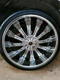 26 inch Chrome Rims and Tires Midland, 79701