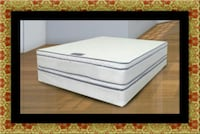Queen mattress double pillow top with box spring Bowie