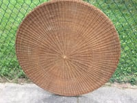 Round Brown Wicker Table Top 381 mi