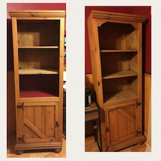Solid wood book cases 24w, 15d, 6' tall