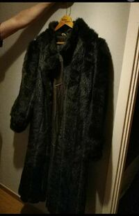 Fuskpäls faux fur long coat vintage från uk