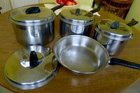 Vintage FLINT EKCO (3) Stainless Steel Cookware (1950's) Bethesda, MD, USA
