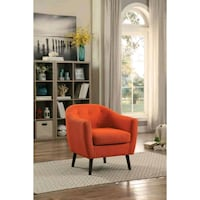 [MONTHLY SPECIAL] Lucille Orange Accent Chair   11 Houston, 77036