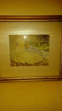 Claude Monet Print in Frame.