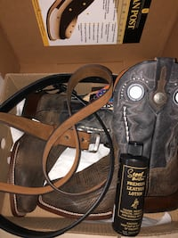 Dan Post American Bison Boots size 10 boots and kit