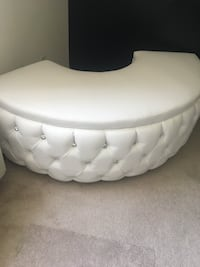 White leather semi circle ottoman Los Angeles, 90042