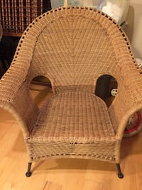 Brown wicker frame chair Madison, 39110