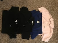 black Lacoste polo shirt and two crew-neck shirts boy Sz 12/14