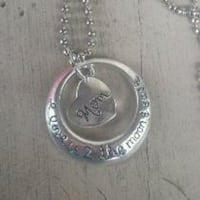 Mom to the moon and back necklace Christmas Gift 539 mi