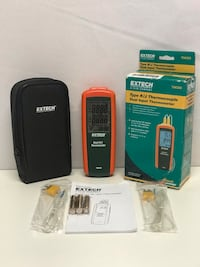 New Extech TM300 Thermocouple Dual Input Thermometer Highland, 92346