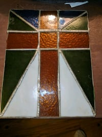 Small stained glass window panel