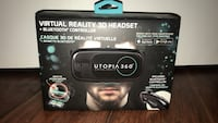 Black utopia 360 virtual reality 3d headset box Hamilton, L8K 5W5