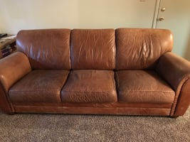 Leather couch and chairs