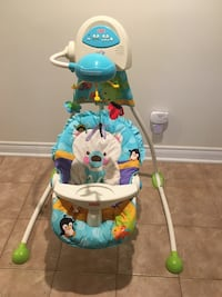baby's multicolored Fisher-Price cradle and swing Toronto, M9R 2K9