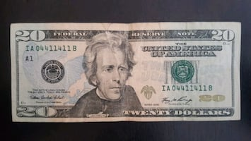 $20 Bill Fancy Serial Number