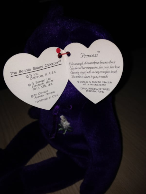 Used Princess Diana Beanie Baby Original 1990 With Ty Tag For Sale