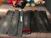 7 pairs boys 4t jeans meet in fall river only