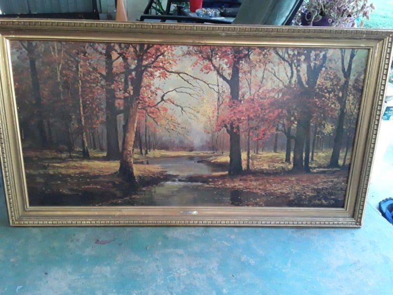 Vintage 1960 Painting by Robert Wood Signed f68ec972-e822-4e61-9e16-d04afb6a40bc