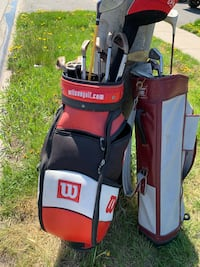 Golf clubs 2 sets with bags take both for 50!!