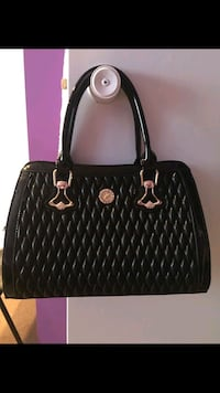 black and brown leather tote bag Calgary, T3J 4K6