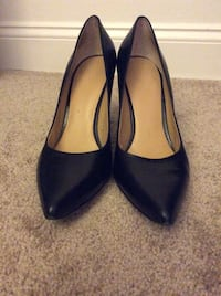 NINE WEST Black leather  stiletto shoes, size9 ,great,PICK UP ONLY!