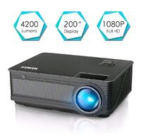 WiMiUS P18 Upgraded 4200 Lumens LED Projector Supp