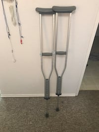 two gray metal underarm crutches Victoria, V8V 2C9