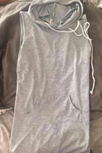 Grey sleeveless hoodie brAnd new