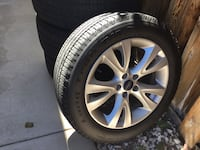 235 55 r18 BF GOODRICH Tires. excellent condition. Rims and tire came of a Ford Taurus. Murrieta, 92563