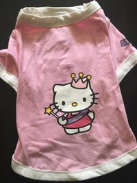 "Hello Kitty by designer dog brand Little Lily Doggy T-Shirt (14"") New York, 11377"