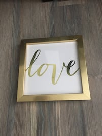"Gold ""Love"" framed print  Alexandria, 22314"