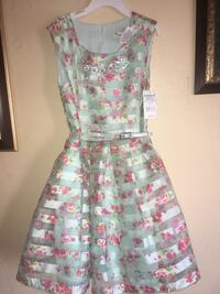 women's blue and pink floral sleeveless dress North Las Vegas, 89030