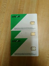 Cricket Wireless Sim Card Lot of 3 Lakeside, 97449