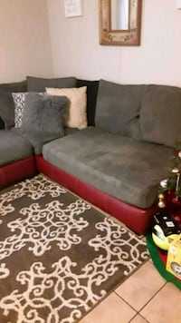 black and red sectional sofa Austin, 78744