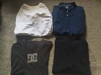 DC and other name brand shirts all large 15 for all 250 mi
