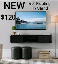 """60"""" Wall Mounted TV Console in Cappuccino Finish"""
