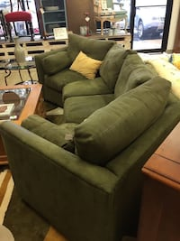 brown suede 3-seat sofa Rockville, 20850