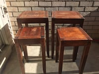 Four brown wooden side tables Hyattsville, 20785
